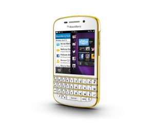 Special Edition - White and Gold BlackBerry Q10 (Sim Free)