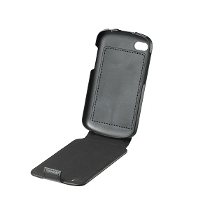 Q10 Leather Flip Shell - Black