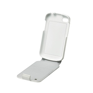 Q10 Leather Flip Shell – White