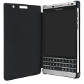 Passport Silver Edition Leather Flip Case - Black