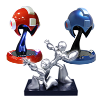 MEGAMAN 25th Anniversary Statue and Helmet