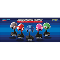 Mega Man Mini Helmet Replica Collection