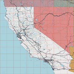 USA State EPS Maps - California