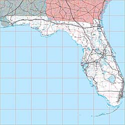 USA State EPS Maps - Florida