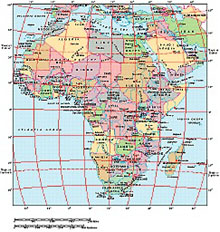 Frontiers Mac EPS map of Africa continent