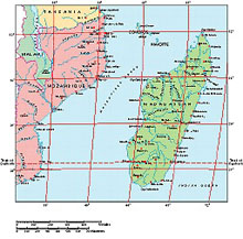 Frontiers Windows EPS map of  Madagascar