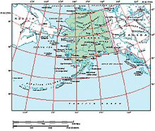 Frontiers Windows EPS map of  Alaska, North East Siberia