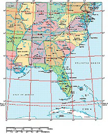 Frontiers Windows EPS map of  USA Eastern