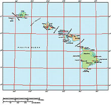 Frontiers Windows EPS map of  Hawaiian Islands