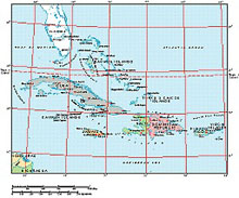 Frontiers Mac EPS map of West Indies, Greater Antilles