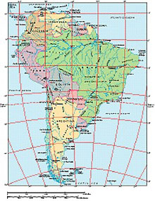 Frontiers Windows EPS map of  South America continent