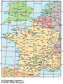 Frontiers Mac EPS map of France, Benelux, Switzerland