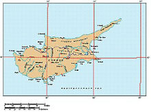 Frontiers Mac EPS map of Cyprus