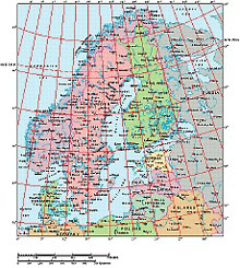 Frontiers Windows EPS map of  Scandinavia