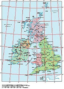 Frontiers Windows EPS map of  British Isles