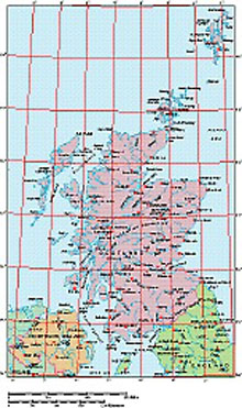Frontiers Mac EPS map of Scotland, Northern Ireland, N.England
