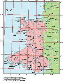 Frontiers Mac EPS map of British Isles - Wales