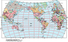 Frontiers Mac EPS map of World - Van de Grinten projection