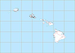 USA State EPS Maps - Hawaii