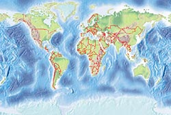 Power PPT Map of World - Pack of 3 maps