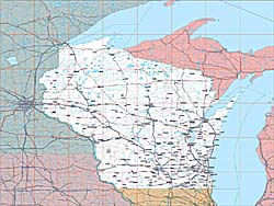 USA State EPS Maps - Wisconsin