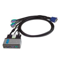 2-Port PS/2 KVM Switch with Audio Support