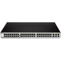DES-1210-52 Web Smart 48-Port 10/100 Switch With (2) 10/100/1000Base-T Ports and 2 Combo SFP Slots