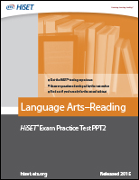 Language Arts–Reading: Practice Test PPT2 eBook