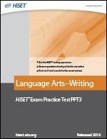 Language Arts–Writing: Practice Test PPT3 eBook