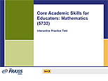 Core Academic Skills for Educators: Mathematics (5732), Interactive Practice Test