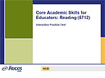 Core Academic Skills for Educators: Reading (5712), Interactive Practice Test, 90-Day Subscription