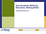 Core Academic Skills for Educators: Writing (5722), Interactive Practice Test, 90-Day Subscription