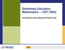 Elementary Education: Mathematics—CKT (7803), 90-Day Subscription