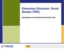Elementary Education: Social Studies (7805), 90-Day Subscription