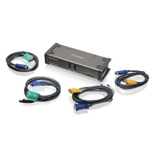 2-Port Dual View KVM Switch with cables