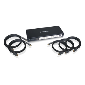 4-Port HD Audio/Video Switch with Remote and Cables