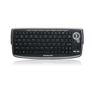 2.4GHz Wireless Compact Keyboard with Optical Trackball and Scroll Wheel