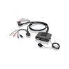 2-Port Dual-Link DVI Cable KVM with Audio