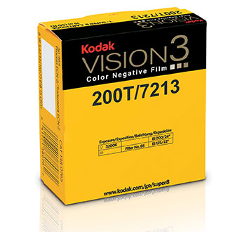 KODAK VISION3 200T Color Negative Film 7213 / 50 ft Super 8 Cartridge, Catalog # 1380765