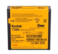 KODAK TRI-X Reversal Film 7266 / 16 mm x 100 ft / Camera Spool / Winding B / 1R-2994, Catalog # 8012270