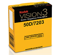 KODAK VISION3 50D Color Negative Film 7203 / 50 ft Super 8 Cartridge, Catalog # 1738053