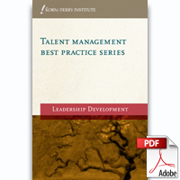 Talent Management Best Practice Series: Leadership Development (PDF)