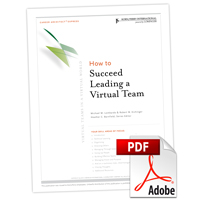 Career Architect® Express Virtual Teams in a Virtual World: How to Succeed Leading a Virtual Team