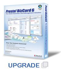 Presto! BizCard 6 Software Upgrade (Windows)