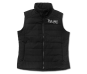 Ladies Antlers Quilted Vest-Black