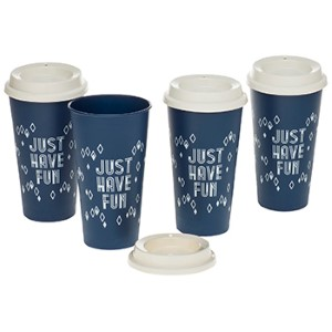 Coffee & Tea Mugs: 4-Pack Reusable To-Go Cup | 20 oz