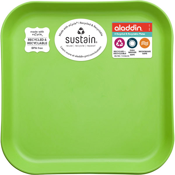 Recycled & Recyclable: 4-Pack Recycled & Recyclable Plates