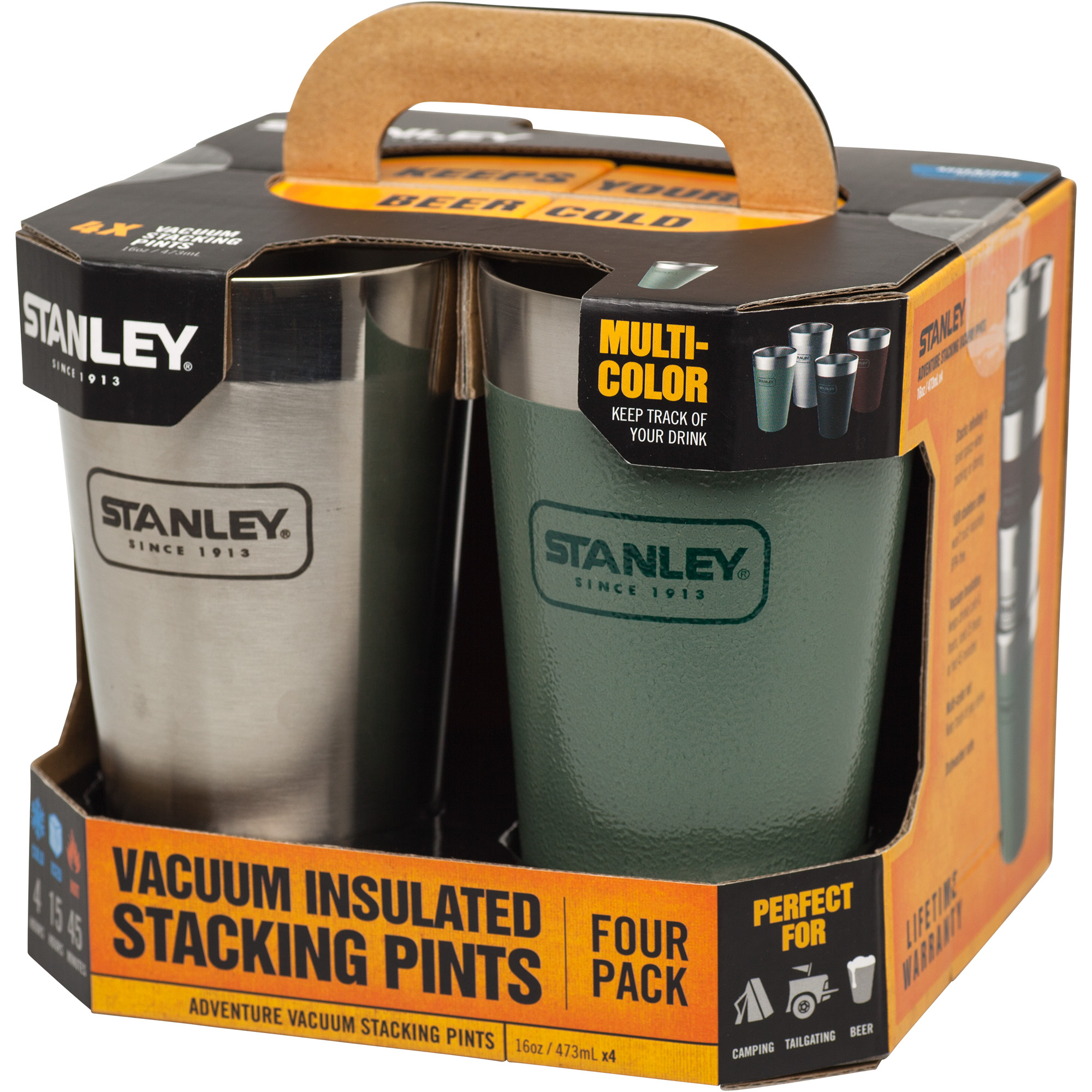 Adventure Stacking Vacuum Pint | 16 oz (4 Pack)