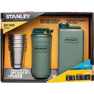 Adventure Steel Shots <em>+</em> Flask Gift Set