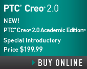 PTC Creo 2.0 Academic Edition - One Year Term License - USD199.99 - Order Now!